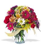 Mersin çiçek mağazası , çiçekçi adresleri  cam yada mika vazo içerisinde karisik kir çiçekleri