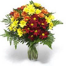 Mersin online çiçekçi , çiçek siparişi  Karisik çiçeklerden mevsim vazosu