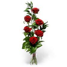Mersin çiçek , çiçekçi , çiçekçilik  mika yada cam vazoda 6 adet essiz gül