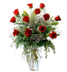 Vazo içerisinde 11 kirmizi gül  Mersin çiçek yolla