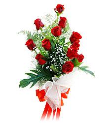 11 adet kirmizi güllerden görsel sölen buket  Mersin çiçek yolla