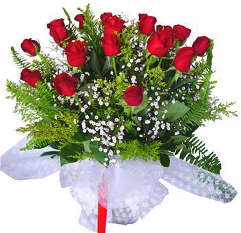 11 adet gösterisli kirmizi gül buketi  Mersin çiçek yolla , çiçek gönder , çiçekçi