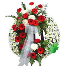 Cenaze çelengi cenaze çiçek modeli  Mersin çiçek , çiçekçi , çiçekçilik