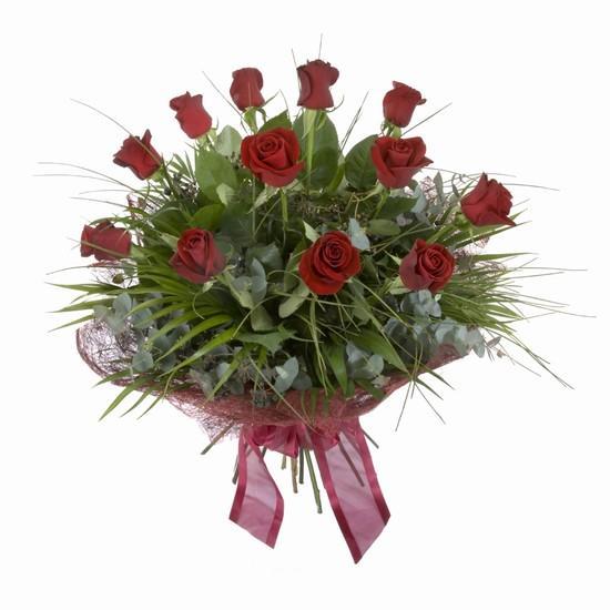 Etkileyici buket 11 adet kirmizi gül buketi  Mersin çiçek yolla , çiçek gönder , çiçekçi