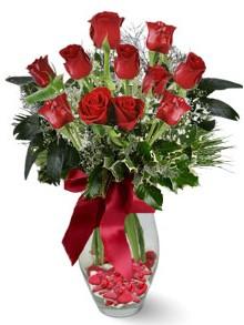 9 adet gül  Mersin çiçek yolla , çiçek gönder , çiçekçi   kirmizi gül
