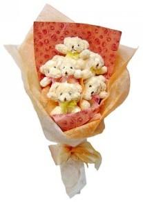 12 adet ayiciktan buket  Mersin online çiçekçi , çiçek siparişi