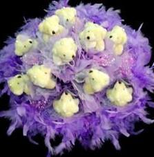 11 adet pelus ayicik buketi  Mersin çiçek mağazası , çiçekçi adresleri