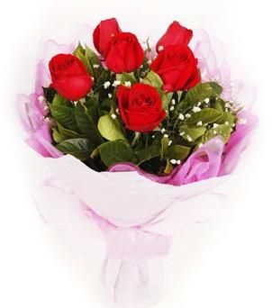 Mersin çiçekçi mağazası  kırmızı 6 adet gülden buket