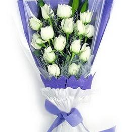 Mersin yurtiçi ve yurtdışı çiçek siparişi  11 adet beyaz gül buket modeli