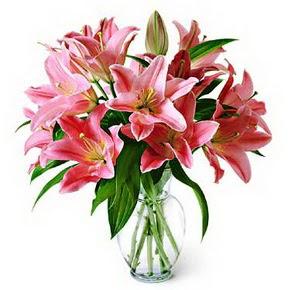 3 dal kazablanka görsel vazosu  Mersin çiçek gönderme sitemiz güvenlidir