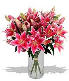 4 dal cazablanca görsel vazosu  Mersin yurtiçi ve yurtdışı çiçek siparişi