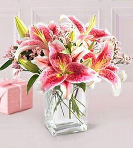 2 dal kazablanka görsel vazosu  Mersin online çiçekçi , çiçek siparişi