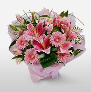 1 dal kazablanka ve kır çiçek görsel buketi  Mersin çiçek yolla , çiçek gönder , çiçekçi