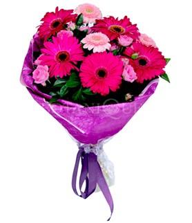 Mersin online çiçekçi , çiçek siparişi  karışık gerbera çiçeği buketi
