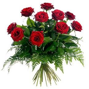 Mersin hediye sevgilime hediye çiçek  10 adet kırmızı gülden buket