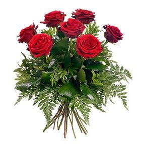 Mersin çiçek gönderme  7 adet kırmızı gülden buket
