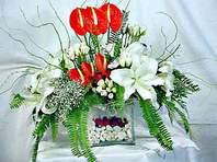 Mersin çiçekçiler  Anthurim Kazablanka  gül