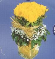 Mersin hediye çiçek yolla  Cam vazoda 9 Sari gül
