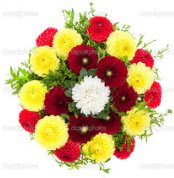 Mersin yurtiçi ve yurtdışı çiçek siparişi  13 adet mevsim çiçeğinden görsel buket