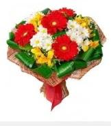 1 demet karışık buket  Mersin çiçekçi mağazası