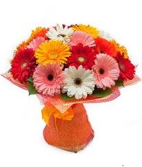 Renkli gerbera buketi  Mersin hediye çiçek yolla