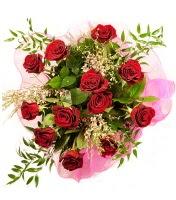 12 adet kırmızı gül buketi  Mersin ucuz çiçek gönder