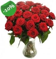 Vazo içerisinde 25 adet kırmızı gül  Mersin çiçekçi telefonları