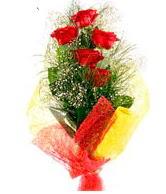 5 li kırmızı gül buketi  Mersin çiçek yolla , çiçek gönder , çiçekçi