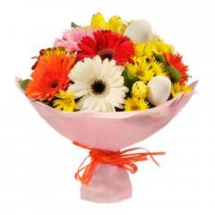 Karışık mevsim buketi Mevsimsel çiçek  Mersin çiçek gönderme sitemiz güvenlidir
