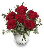 Vazo içerisinde 5 adet kırmızı gül  Mersin yurtiçi ve yurtdışı çiçek siparişi