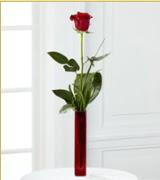 Vazo içerisinde 1 adet kırmızı gül  Mersin çiçek gönderme sitemiz güvenlidir