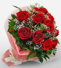 12 adet kırmızı güllerden kaliteli gül  Mersin çiçek yolla