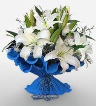 4 dal kazablanka çiçeğinden buket  Mersin çiçekçi telefonları