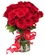 21 adet vazo içerisinde kırmızı gül  Mersin çiçek servisi , çiçekçi adresleri