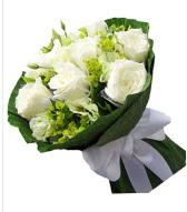9 adet beyaz gül buketi  Mersin online çiçekçi , çiçek siparişi