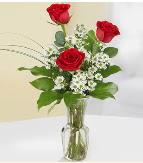 Vazo içerisinde 3 adet kırmızı gül  Mersin çiçek servisi , çiçekçi adresleri