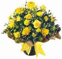 Mersin çiçek mağazası , çiçekçi adresleri  Sari gül karanfil ve kir çiçekleri