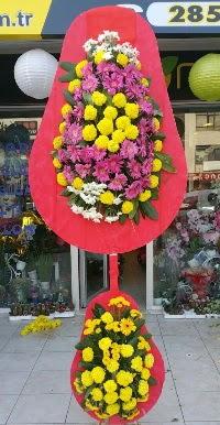 Çift katlı düğün nikah açılış çiçek modeli  Mersin çiçek gönderme