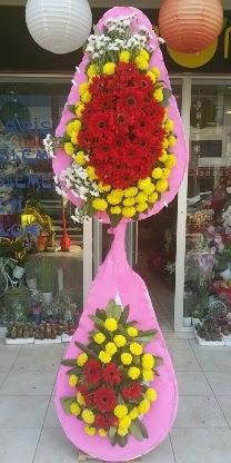 Çift katlı düğün nikah açılış çiçek modeli  Mersin İnternetten çiçek siparişi