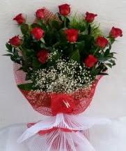 11 adet kırmızı gülden görsel çiçek  Mersin çiçek servisi , çiçekçi adresleri