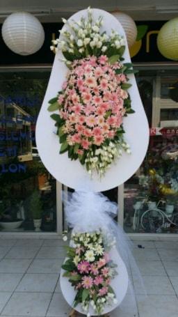 Çift katlı özel şahane sepet çiçeği  Mersin çiçek online çiçek siparişi
