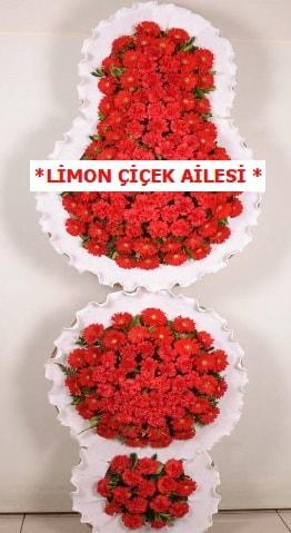 3 katlı kırmızı düğün açılış çiçeği  Mersin hediye sevgilime hediye çiçek