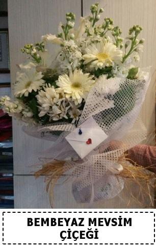 Bembeyaz görsel mevsim çiçek buketi  Mersin anneler günü çiçek yolla