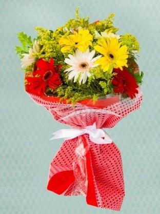 Karışık Gelbera Buketi  Mersin online çiçekçi , çiçek siparişi