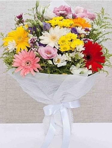 Karışık Mevsim Buketleri  Mersin kaliteli taze ve ucuz çiçekler