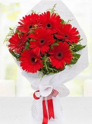 Kırmızı Gelbera Buketi  Mersin çiçek gönderme sitemiz güvenlidir