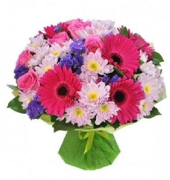 Karışık mevsim buketi mevsimsel buket  Mersin çiçek servisi , çiçekçi adresleri