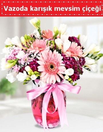 Vazoda karışık mevsim çiçeği  Mersin çiçek mağazası , çiçekçi adresleri