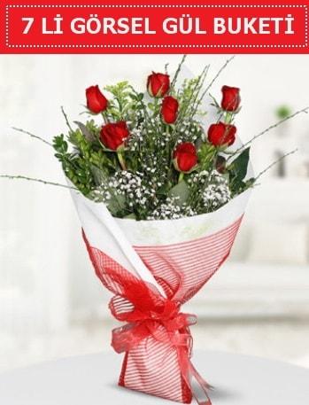 7 adet kırmızı gül buketi Aşk budur  Mersin çiçek servisi , çiçekçi adresleri
