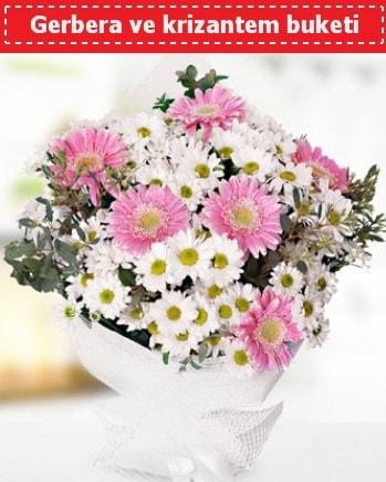 Papatya ve Gerbera Buketi  Mersin çiçek mağazası , çiçekçi adresleri